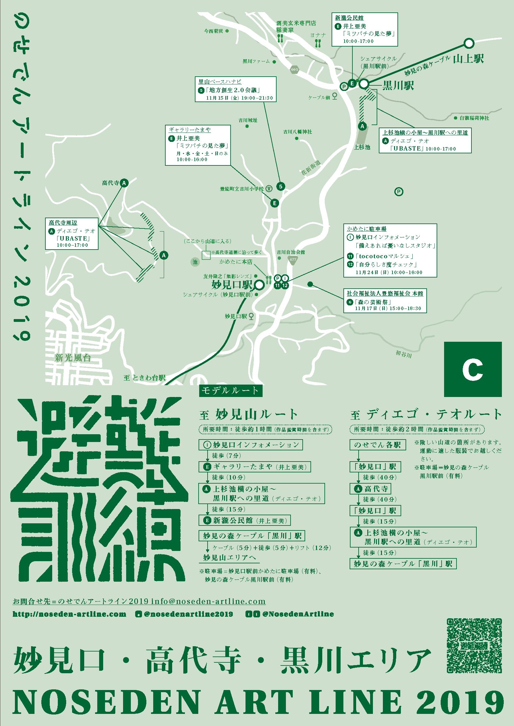 妙見口・高代寺・黒川エリアマップ